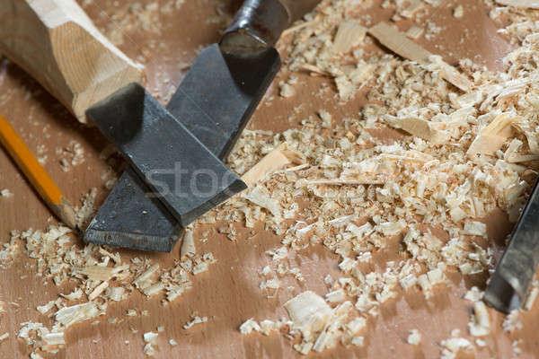 Stock photo: Carpenter's tools