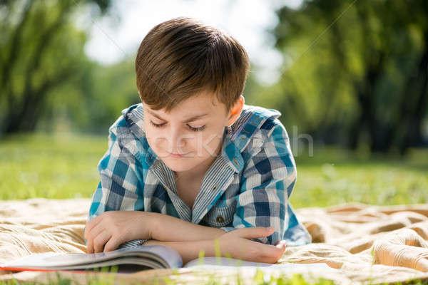 Szabadtér hétvége aranyos fiú nyár park Stock fotó © adam121