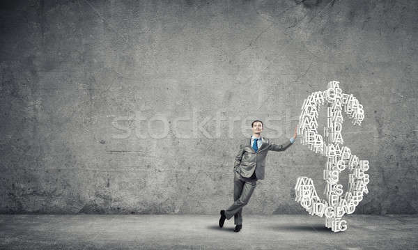 Stock photo: He wants to be rich