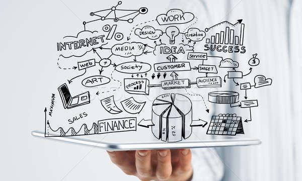 Plan elektronicznej działalności biznesmen strony strategia biznesowa Zdjęcia stock © adam121