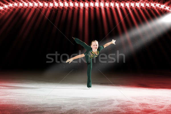 performance of young skaters, ice show Stock photo © adam121