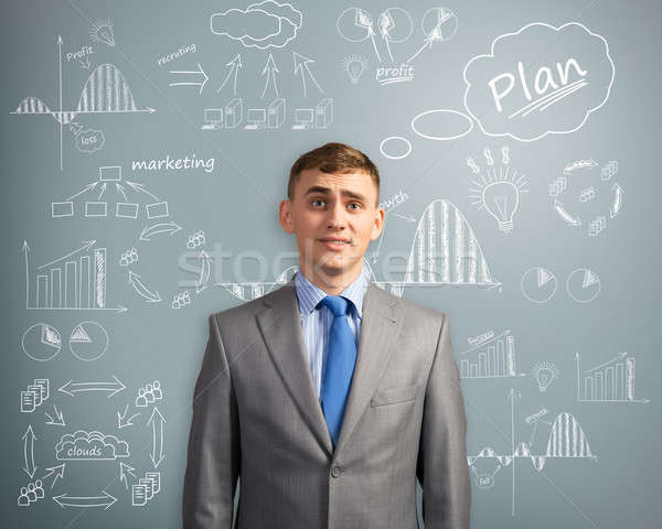 businessman thinking about innovation in business Stock photo © adam121