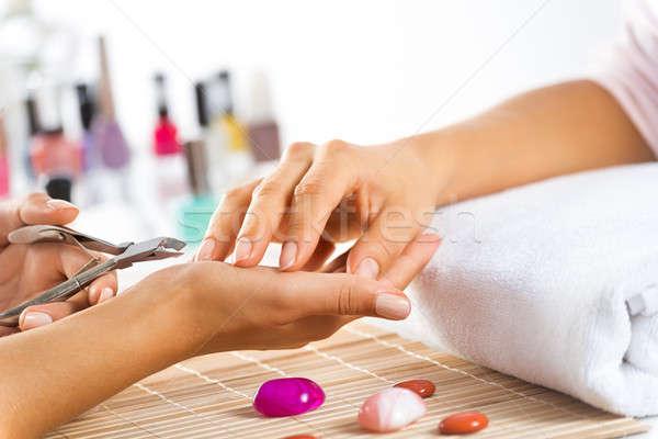 Manicure procedure Stock photo © adam121