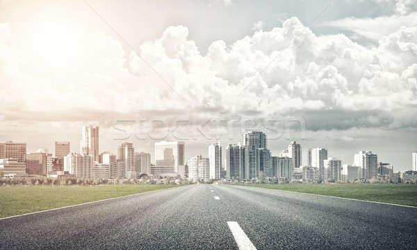 Road to big city Stock photo © adam121