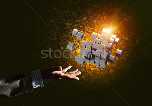 Foto stock: Idea · nuevos · integración · cubo · figura