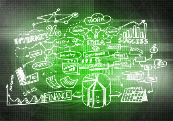 Business achtergrond afbeelding plan strategie licht Stockfoto © adam121