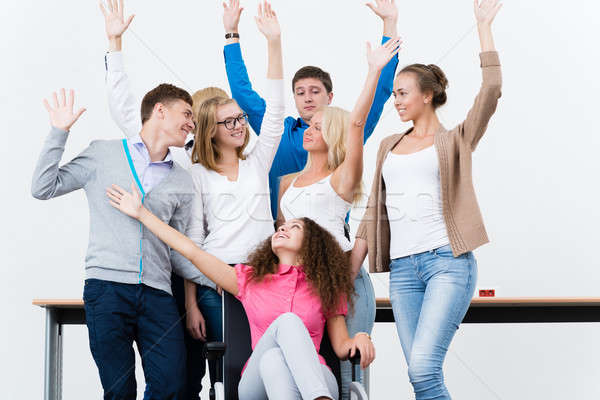 students in the class raised their hands Stock photo © adam121