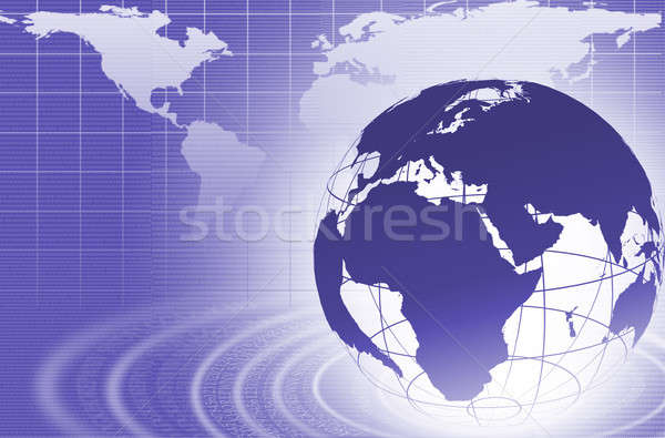 Abstract business digitale afbeelding wereldbol internet Stockfoto © adam121