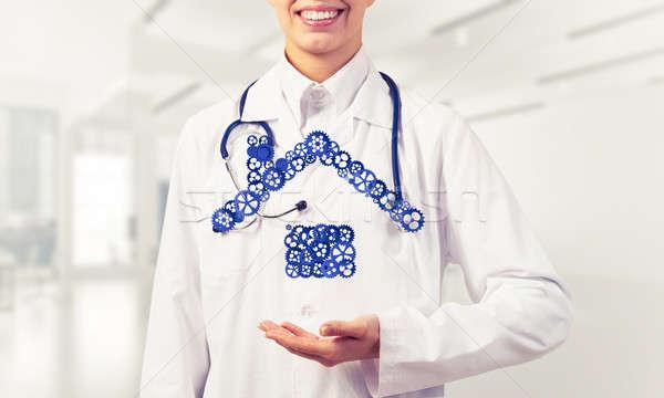 シンボル ホームページ 手 女性 医師 ストックフォト © adam121