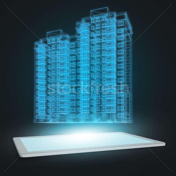 Model of building Stock photo © adam121