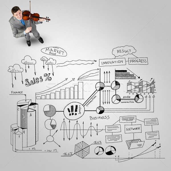 üzletember játék siker dallam felső kilátás Stock fotó © adam121