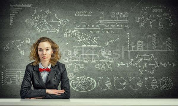 She is studying hard Stock photo © adam121