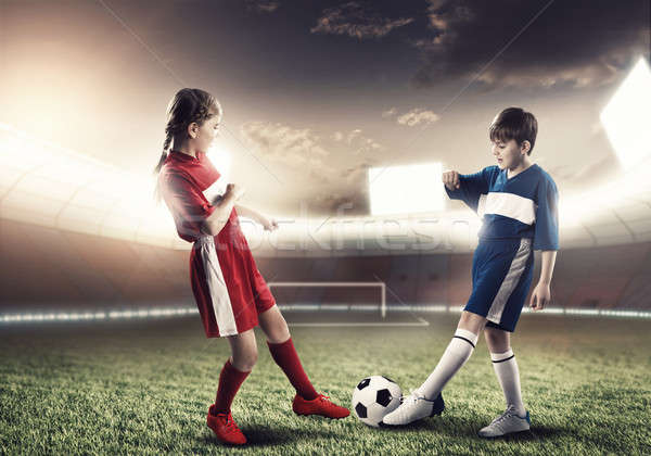 Zwei teens Schule Alter spielen Stock foto © adam121