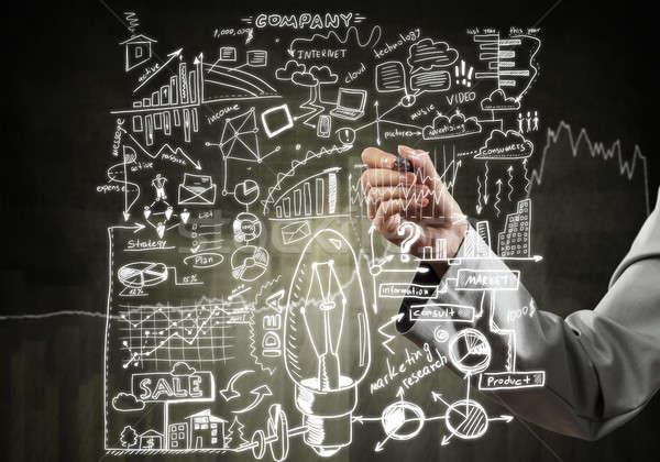 Vrouw business ideeën sluiten zakenvrouw Stockfoto © adam121