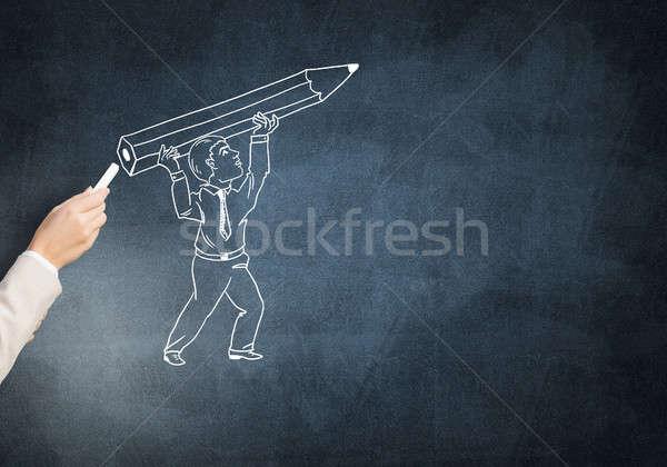 инженер человека мужчины стороны мелом карандашом Сток-фото © adam121