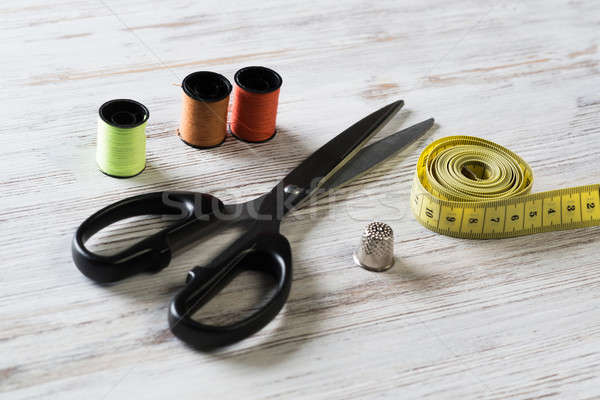 Sewing kit on table Stock photo © adam121