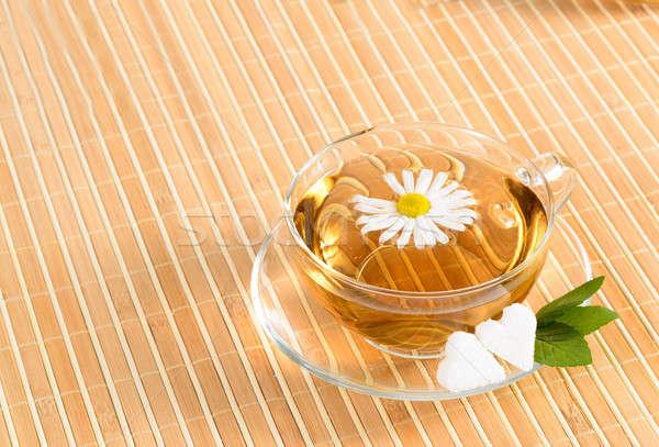 çay fincanı çay çiçek gıda Stok fotoğraf © adam121