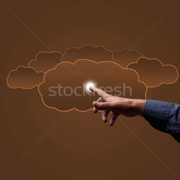finger touches the clouds Stock photo © adam121