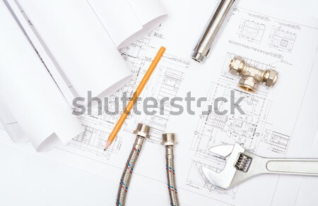 Plomberie dessins construction still life bureau Photo stock © adam121