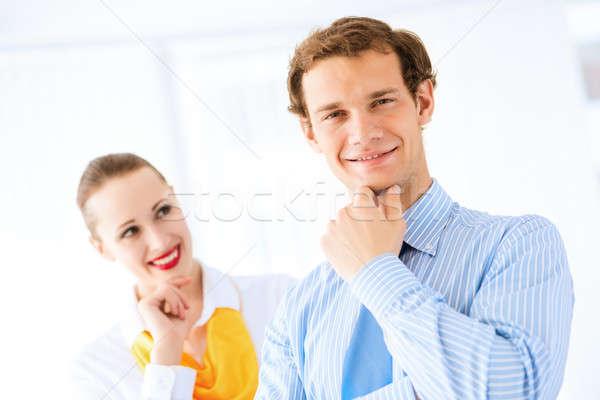 успешный бизнесмен Поздравляю коллеги руководство работа в команде Сток-фото © adam121