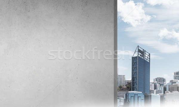 Concrete empty banner  Stock photo © adam121