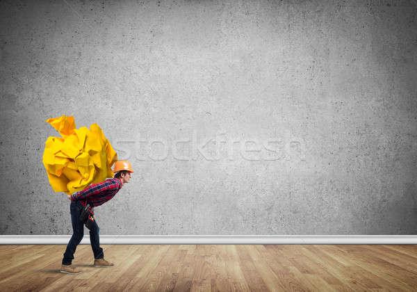 Inżynier człowiek załadować budowniczy Zdjęcia stock © adam121
