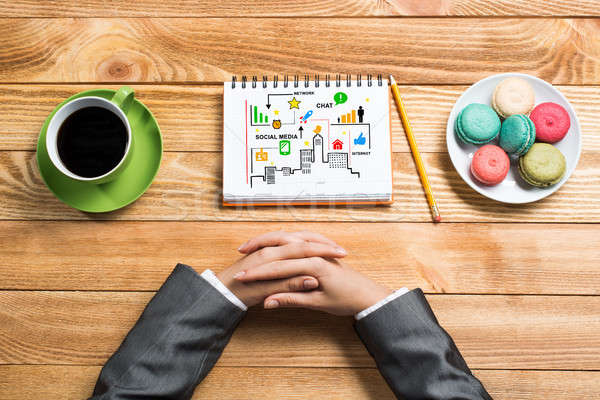 Stock photo: Some business ideas and notes