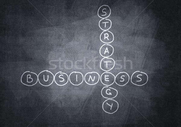 Kréta rajzolt keresztrejtvény üzlet iskolatábla textúra Stock fotó © adam121