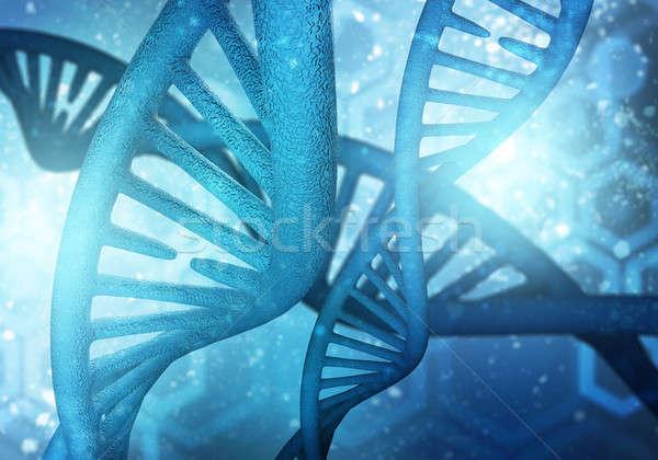 ADN moléculas fondo imagen ordenador medicina Foto stock © adam121