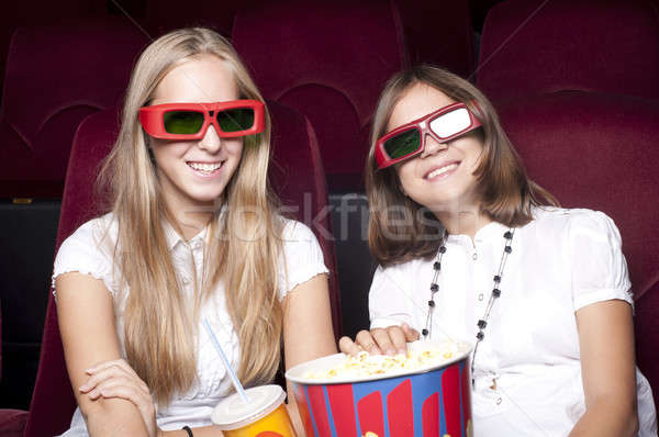 girls in cinema Stock photo © adam121