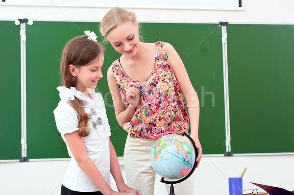 öğretmen ders coğrafya durmak okul dünya Stok fotoğraf © adam121