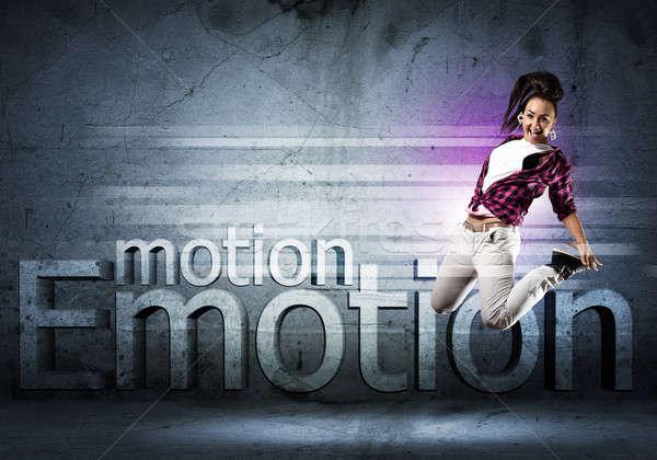 Dançarina imagem mulher jovem dança colagem Foto stock © adam121
