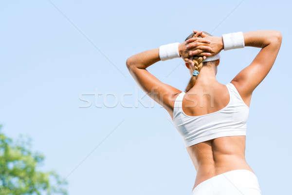 Woman runner Stock photo © adam121