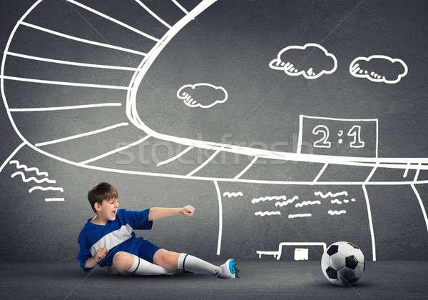 Voetbal kampioen school jongen spelen Stockfoto © adam121