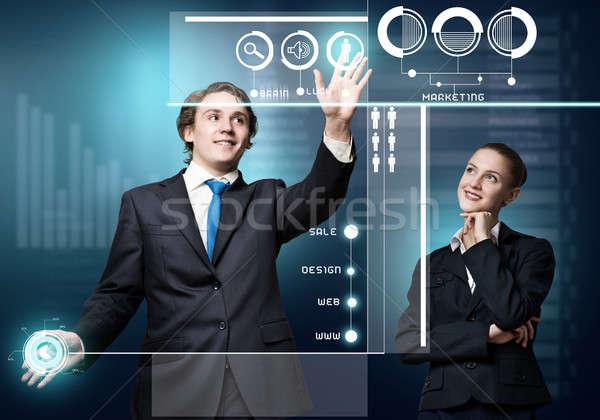Сток-фото: современных · молодые · бизнесмен · деловая · женщина