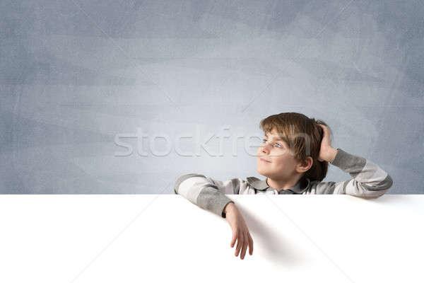 少年 バナー かわいい 学校 年齢 広告 ストックフォト © adam121