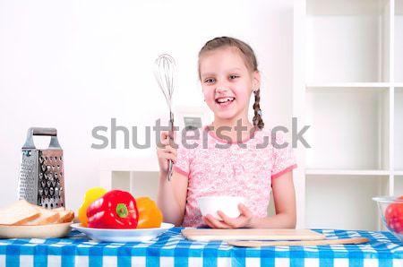 girl working in the kitchen Stock photo © adam121
