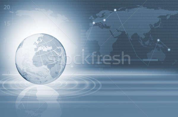 Abstract business digitale afbeelding wereldbol internet Stockfoto © adam121