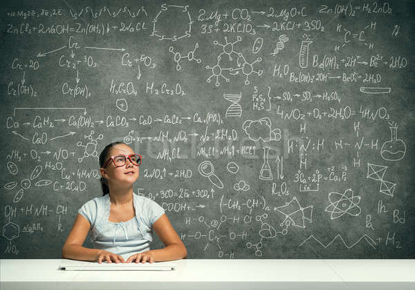 Little school genius Stock photo © adam121