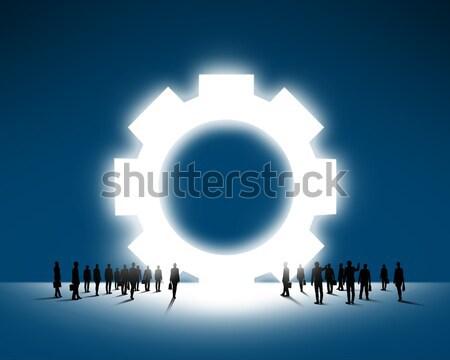 Zespołowej organizacja ludzi biznesu duży narzędzi Zdjęcia stock © adam121