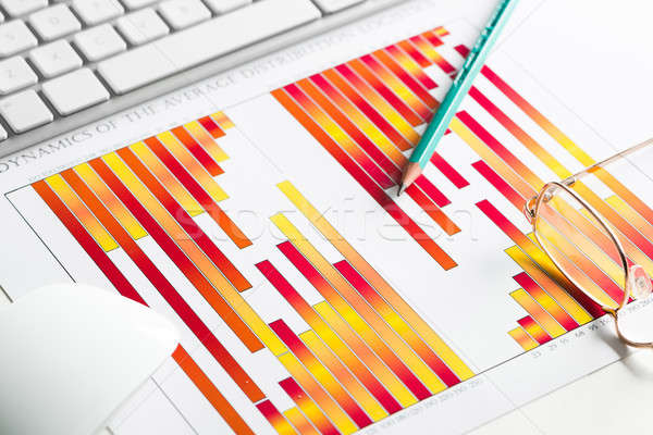 Preparing average sales report Stock photo © adam121