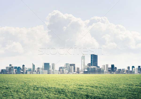 природного пейзаж мнение Небоскребы городского изображение Сток-фото © adam121