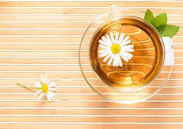 чайная чашка травяной ромашка чай цветок медицинской Сток-фото © adam121