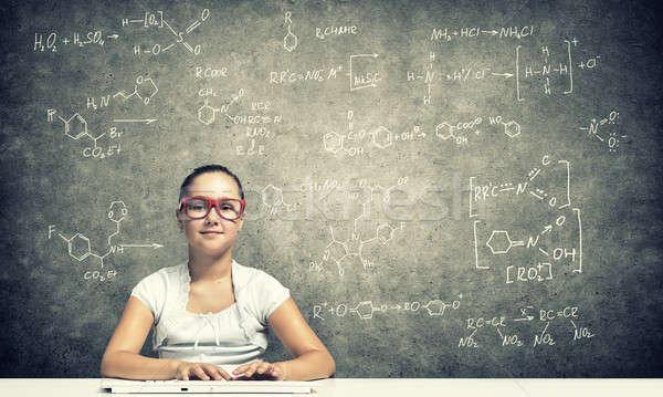Little school genius Stock photo © adam121