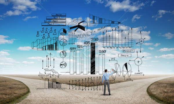 Infographic strategy plan Stock photo © adam121
