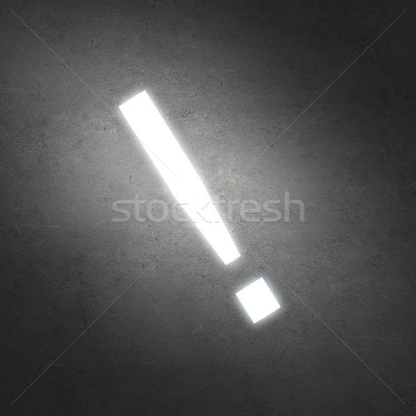 Exclamation mark on wall Stock photo © adam121