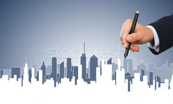 инженерных дизайнера работу стороны человека рисунок Сток-фото © adam121