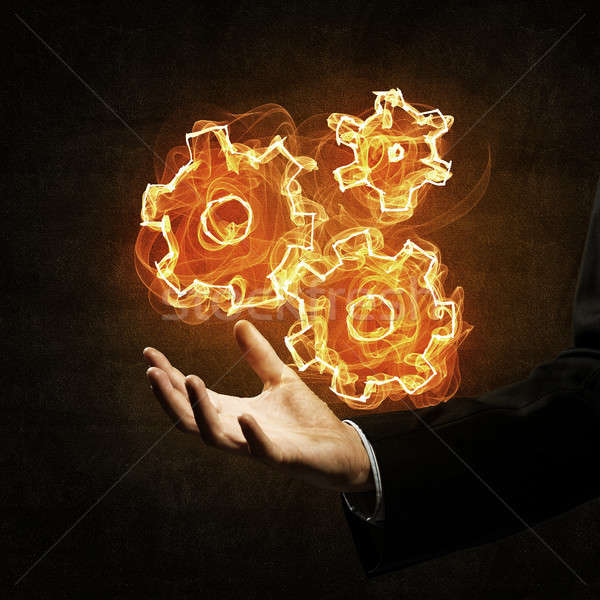 Setting fire icon Stock photo © adam121