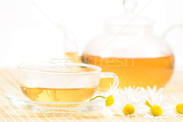 teacup with herbal chamomile tea Stock photo © adam121