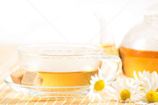 Stok fotoğraf: çay · fincanı · çay · demlik · gıda